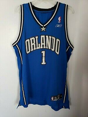 f1d7cfad Vintage REEBOK Authentic NBA Orlando Magic TRACY MCGRADY #1 Jersey Mens XL  Sewn