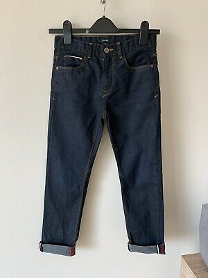 Boys Marks And Spencer Age 9-10 Smart Dark Blue Jeans M&S
