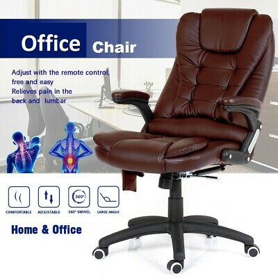 Swivel Reclining Office Managerial Furniture PC Computer Desk Chair Leather New
