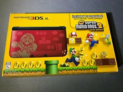 Nintendo 3DS XL Super Mario Bros. 2 Gold Edition Brand New