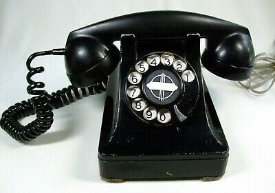 Vtg December 1941 Rotary Dial Telephone Western Electric 302 Restored Works!