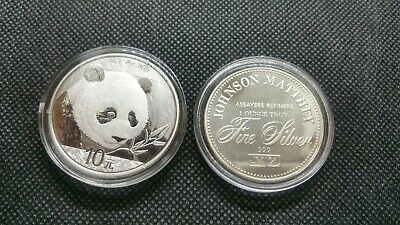 Johnson Matthey Freedom Of Religion & 2018 China Silver Panda 🐼  999 Pur