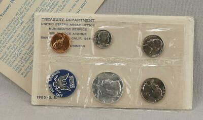 1965 United States SPECIAL MINT SET With The 40% Silver Kennedy Half Dollar!!