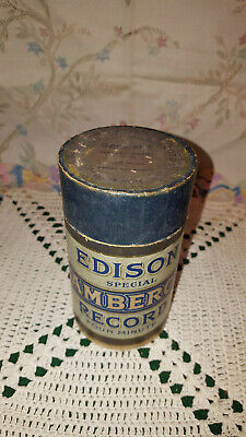 Antique Edison Amberol Four Minute Wax Cylinder Box  - EMPTY