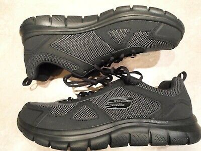 Skechers Men/'s TRACK BUCOLO Shoes Black//White #52630 167R az NEW