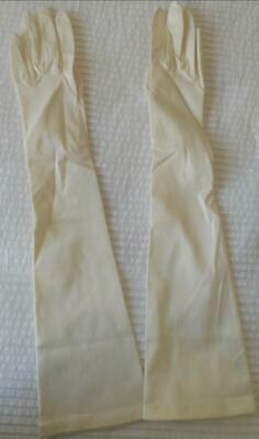 Pr Vintage 1960'S Ladies Creamy White Above Elbow Length Gloves West Germany  7