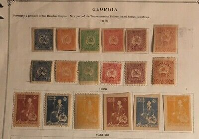Georgia Stamps B6/3 1919/20 Complete Sets? Unused/MH A Nice Collection