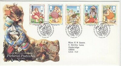 GB Stamps First Day Cover Seaside Comic Picture Postcard SHS Mr Punch, Croc 1994