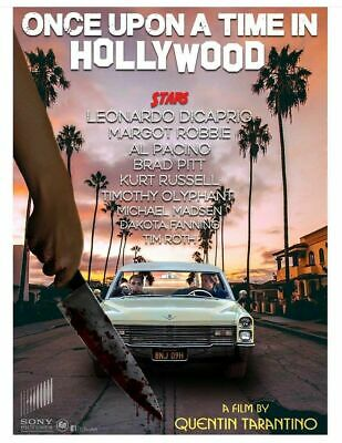 Once Upon A Time in Hollywood  Poster  13x19 inches H