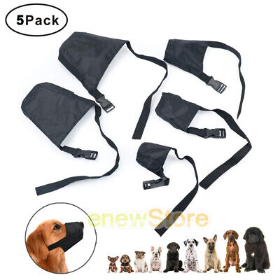 Adjustable Dog Muzzle Safety Muzzel Biting Barking Chewing S-XXL Set of 5