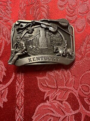 Vintage Kentucky 1984 Siskiyou Company Collectible Belt Buckle Made In USA (DR)