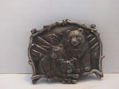VTG Great American Products Bear Belt Buckle Pewter GAP 1995 Bears 4180 USA Made