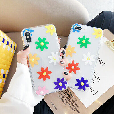 3D Diamond Flowers Clear TPU Case For iPhone XS Max X XR 8 7 6 Shockproof Cover