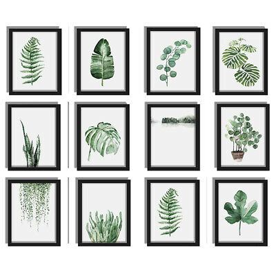 Green Plants Canvas Art Print Poster Leaf Painting Wall Pictures Home Decor 1 X