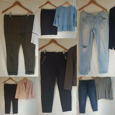 Bulk Ladies Size 12 Clothes mix and match blazers work and casual jeans winter