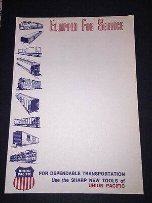 """Circa 1970/'s Union Pacific RR /""""We Can Handle It We Mean Business./"""" Note Pad."""