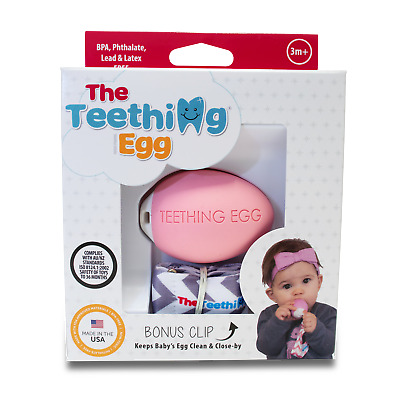 Teething Eggs Baby Teether Teeting Aid Pink