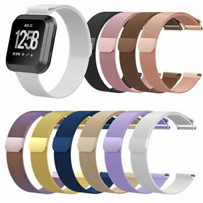 Stainless Metal Milanese Magnetic Loop Band Wristband Strap For FitBit Versa EU