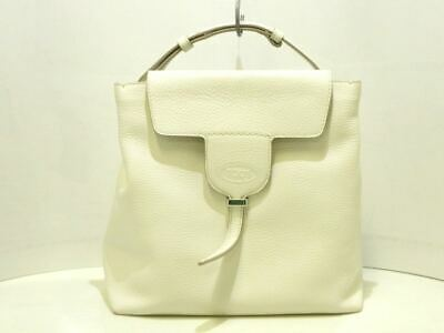 83a79b7517 Auth TOD'S Joy Bag Small XBWANXE0200RIAB015 White Calf Leather Tote Bag