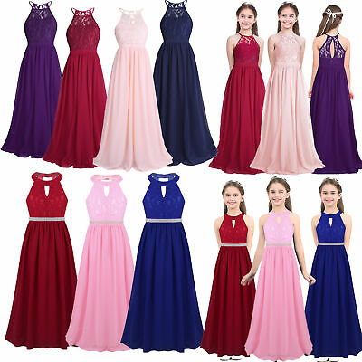 Flower Girls Dress Princess Formal Party Pageant Wedding Bridesmaid Ball Gown