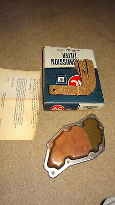 AC #PF182 GM #6439272 transmission filter. 1965-68-1969 Fords with c4 automatic.