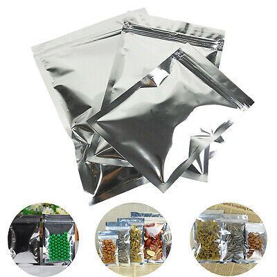 Various Flat Aluminum Foil Zip Lock Bags Pouches Food Grade Package Resealable