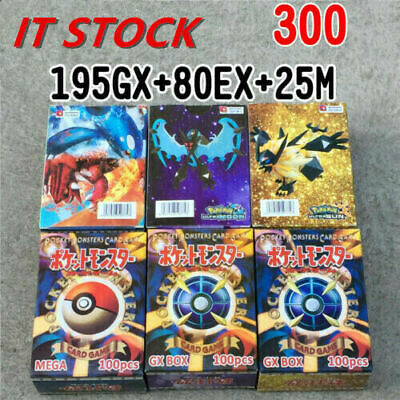 300 Pezzi Carta Pokemon Per Carte Pokemon Originale GX MEGA EX Da NUOVA