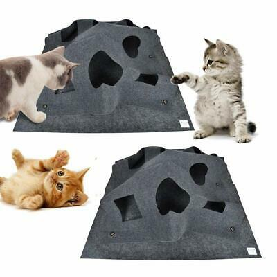 Multi-function Mat Pet Cat Kitten Interactive Playing Blanket Toy Training Mat