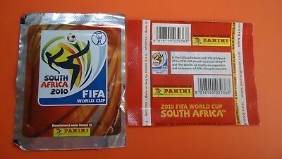 Panini World cup SOUTH AFRICA 2010 silver FOOTBALL Sealed Sticker Packets 3X
