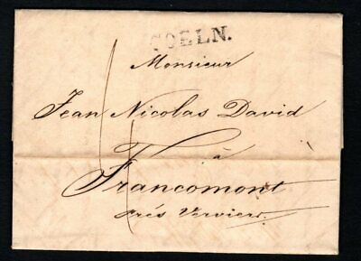 Germany 1817 Folded Letter written in french from Cologne to Verviers
