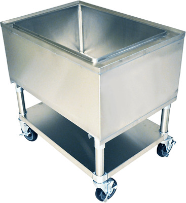 """21"""" x 36"""" Stainless Steel Mobile Ice Bin"""