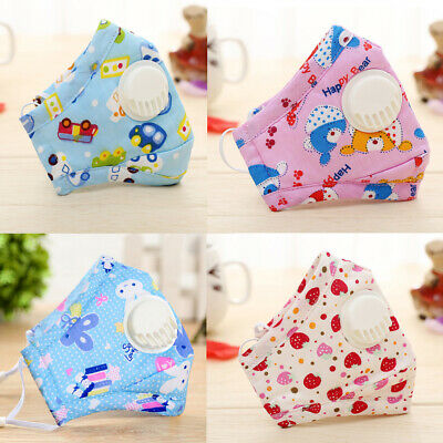 PM 2.5 For Kids Anti-Dust Washable Cotton + 2 Free Valve Replaceable Filters
