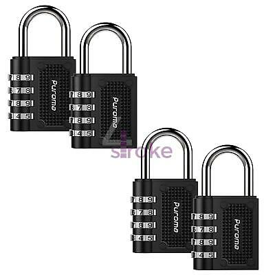 Weatherproof Security Padlock Outdoor Heavy Duty 4-Digit Combination Lock 4Pc