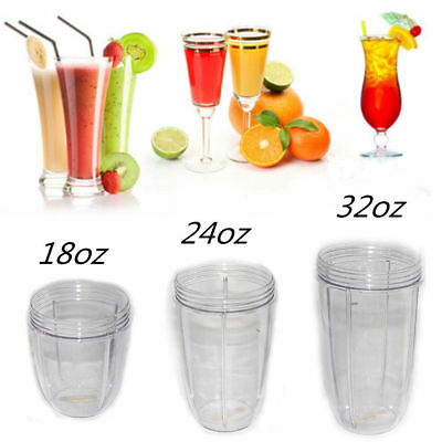 Replacement Mug 18/24/32 OZ Tall Oversized Cup For Nutribullet 900w US Stock