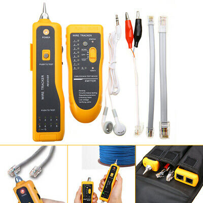 New Network LAN Ethernet Telephone Cable Toner Wire Tracker Tester Home Office