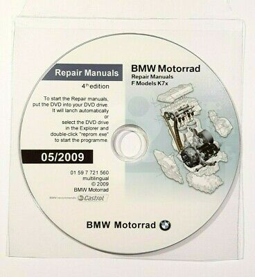 Dvd Manuale Officina Reprom Workshop Bmw F650Gs F800Gs-R-S-St 2009