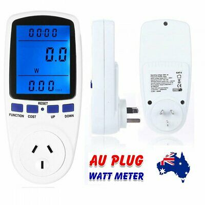 240V Power Meter Monitor Energy Consumption Watt Electricity Usage Tester Plug