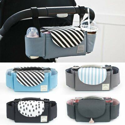 Stroller Pram Pushchair Baby Organiser Mummy Bag Storage Cup Bottle Holder EU