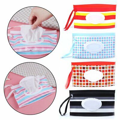 Baby Clean Carrying Case Wet Wipes Bag Trendy Pouch Wipes Container Home EU