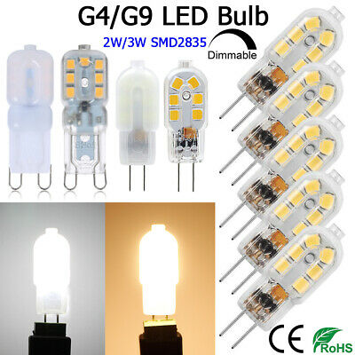 10Pcs G4 G9 Ampoule Halogène LED Bulb Bi-Pin Base for 20W Halogen Bulb AC/DC12V