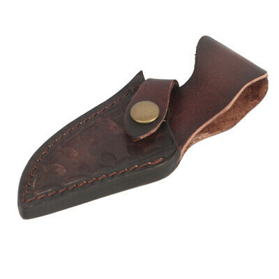 Tourbon Top Grain Leather Straight Knife Sheath Cover Knives Holsters Belt Loop