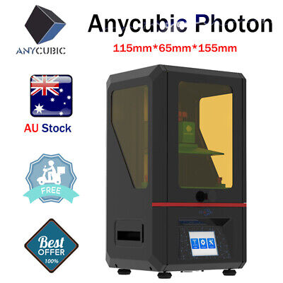 AU ANYCUBIC Photon LCD SLA 3D Printer Light Cure Color TFT Screen Free UV Resin