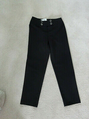 Girls Black School Unform Trousers Age 9 Years By Tammy