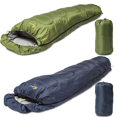 SUNMER 3-4 Season Mummy Single Adult Sleeping Bag Waterproof Camping 200GSM