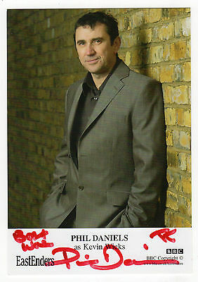 PHIL DANIELS Lead role as Jimmy in 'Quadrophenia', Signed 'Eastenders' photo