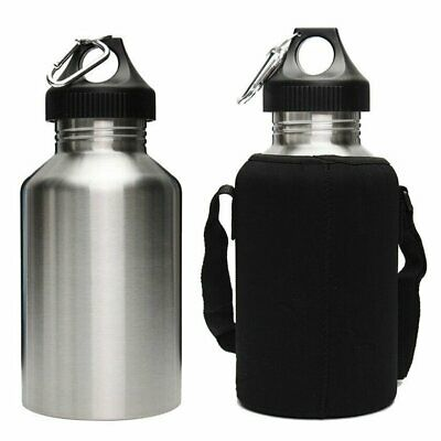 2L Portable Stainless Steel Tea Water Bottle Carrier Insulated Bag Holder EU