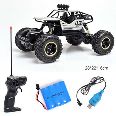 4WD RC Monster Truck Off-Road Vehicle 2.4G Remote Control Buggy Crawler Car 4