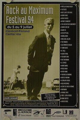 Affiche Festival ROCK AU MAXIMUM 1994 Clermont Ferrand