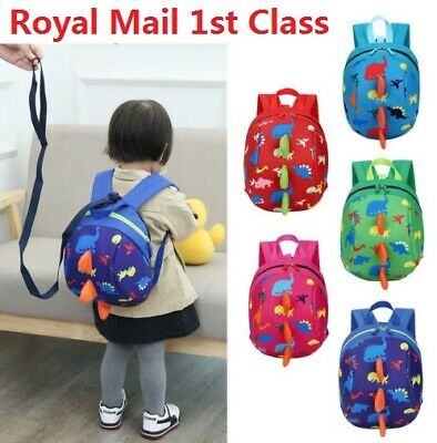 UK Cartoon Baby Toddler Kids Dinosaur Safety Harness Strap Bag Backpack & Reins