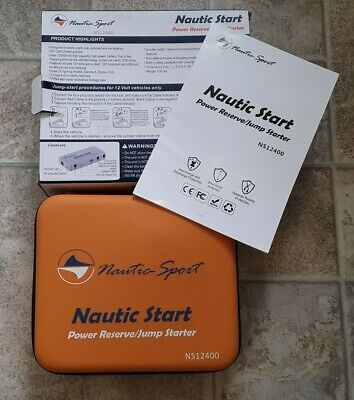 Nautia Sport NS12400 mAh Lithium Reserve Power Supply and Mini Jump Starter